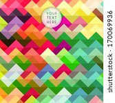 colorful zigzag pattern ... | Shutterstock .eps vector #170069936
