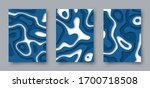 set of vector abstract 3d... | Shutterstock .eps vector #1700718508