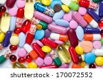 pills isolated on white...