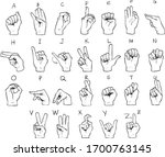 vector hand drawn sign... | Shutterstock .eps vector #1700763145