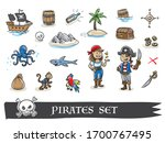 Cute Pirate\'s Icon Set  With...