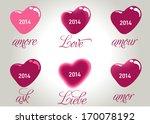 happy valentines day.... | Shutterstock .eps vector #170078192