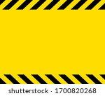 yellow   warning wallpaper... | Shutterstock .eps vector #1700820268