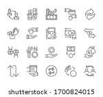 set of money exchange related... | Shutterstock .eps vector #1700824015