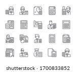 set of  alculator related... | Shutterstock .eps vector #1700833852