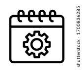 calendar vector thin line icon