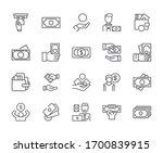 set of   sh related vector line ... | Shutterstock .eps vector #1700839915