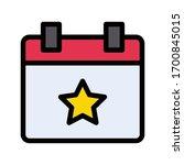 calendar vector flat color icon