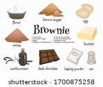 Set Of American Dessert Brownie ...