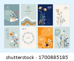set of brochure designs on the... | Shutterstock .eps vector #1700885185