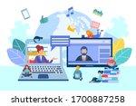online communication ...   Shutterstock .eps vector #1700887258
