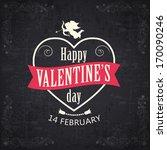 happy valentine's day ... | Shutterstock .eps vector #170090246