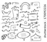 hand drawn design elements | Shutterstock .eps vector #170092226