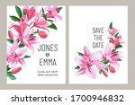 floral wedding invitation card... | Shutterstock .eps vector #1700946832