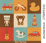 retro toy icons | Shutterstock .eps vector #170095142