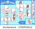 kids paper craft. 3 d cubes...   Shutterstock .eps vector #1700953612