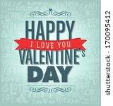 typographic valentines design... | Shutterstock .eps vector #170095412