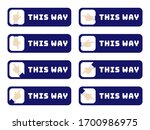 this way sign board design for... | Shutterstock .eps vector #1700986975