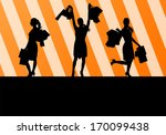 women with shopping bags vector ... | Shutterstock .eps vector #170099438