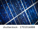 Solar Panel Cells Closeup...