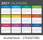 vector template of color 2021... | Shutterstock .eps vector #1701027382