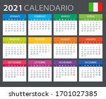 vector template of color 2021... | Shutterstock .eps vector #1701027385
