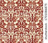 damask wallpaper. rococo... | Shutterstock .eps vector #1701086875