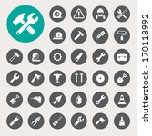 construction icons set... | Shutterstock .eps vector #170118992