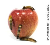 Worm Is Coming Out Of Apple...