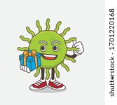 an illustration of green virus... | Shutterstock .eps vector #1701220168