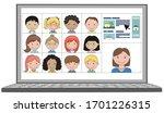 multi ethnic class of children... | Shutterstock .eps vector #1701226315
