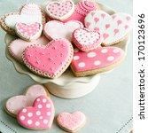 valentine cookies | Shutterstock . vector #170123696