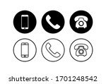 phone icons set. phone icon... | Shutterstock .eps vector #1701248542