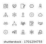 modern thin line icons set of... | Shutterstock .eps vector #1701254755