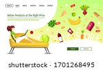 web page design template for...   Shutterstock .eps vector #1701268495