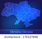 map of ukraine with borders as... | Shutterstock . vector #170127848