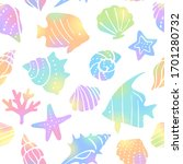 Sea Motifs Illustration...
