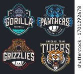 colorful sports teams logotypes ...   Shutterstock .eps vector #1701292678