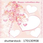 valentines tree background  | Shutterstock .eps vector #170130908