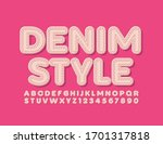 vector denim style alphabet... | Shutterstock .eps vector #1701317818