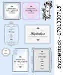 set of ornate frames and... | Shutterstock .eps vector #1701330715