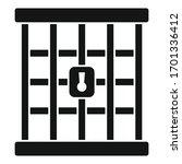 Prison Gate Icon. Simple...