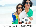 portrait of latino couple with... | Shutterstock . vector #170135756