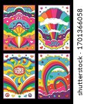 psychedelic art style 1960s ... | Shutterstock .eps vector #1701366058