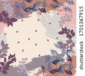 silk square scarf with abstract ... | Shutterstock .eps vector #1701367915