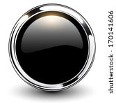 black shiny button with... | Shutterstock .eps vector #170141606