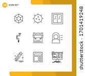 9 thematic vector outlines and...