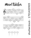mood tracker for a4 print on... | Shutterstock .eps vector #1701420505