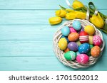 Colorful Easter Eggs In...