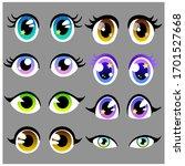 amazing vector set of beautiful ... | Shutterstock .eps vector #1701527668